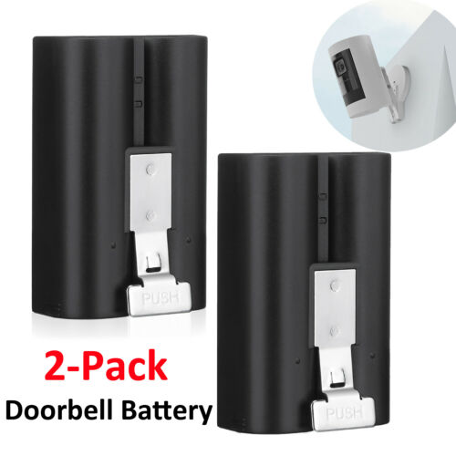 2 Pack Ring Video Door Bell Rechargeable Batteries Quick Release Power Backup US