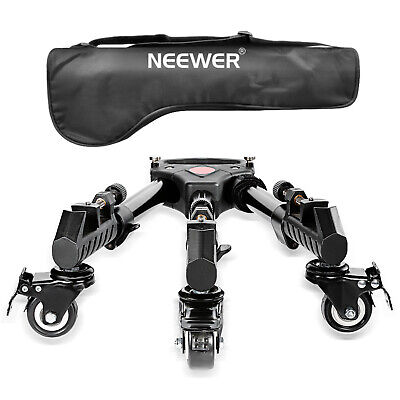 Neewer 15.7inches  Adjustable Tripod Dolly with Rubber Wheels for DSLR Camera