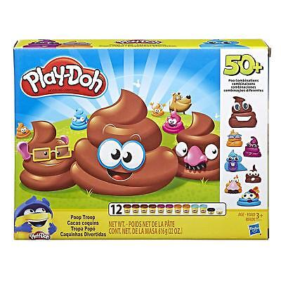 Play-Doh Poop Troop Set12 Cans 10 standard-size 2-ounce cans and 2 small - Play Play Doh