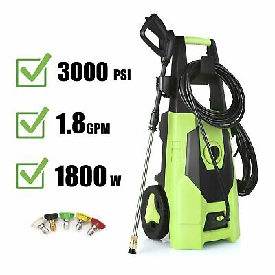 3000psi 1.8gpm Electric Pressure Washer High Power Surface Cleaner Machine Kit