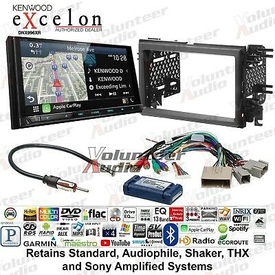 Kenwood Excelon DNX996XR Double Din GPS Navigation Car Stereo Install Kit