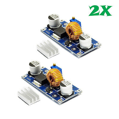 2pcs Xl4015 Dc-dc 4v-38v To 1.25v-36v 5a Step Down Buck Power Supply Module Us