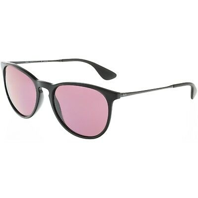 Ray-Ban Women's Polarized Erika RB4171-601/5Q-54 Black Oval Sunglasses