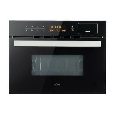 Cocina al vapor 3-en-1 Vaporera Microondas Grill Empotrable 34 L 900 W Negro
