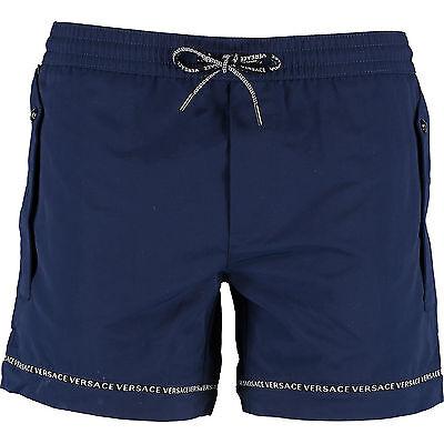 VERSACE Navy Swim Shorts Size IT8/UK 40/3XL