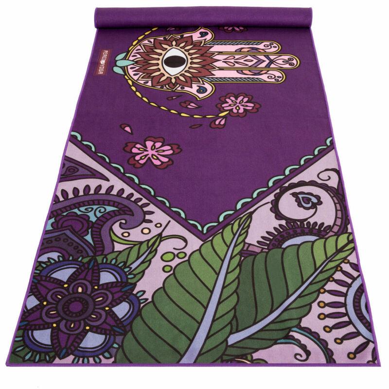 Peace Yoga 100% Microfiber Hot Yoga Mat Towel for Fitness Exercise & Pilates