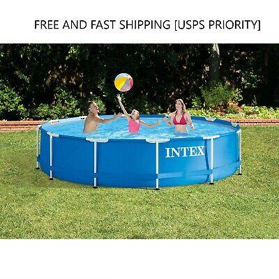 Intex 12 x 30 Metal Frame Set Round Swimming Pool w/ Filter Pump - 28211EH *NEW*