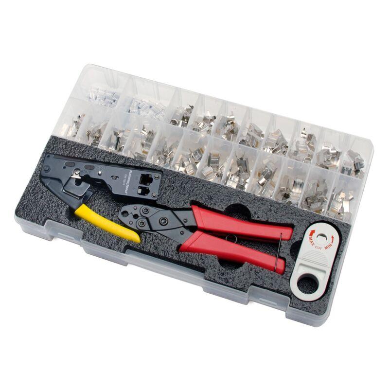 Platinum Tools 90170 10Gig Termination Kit, TeleTitan connector stripper crimper