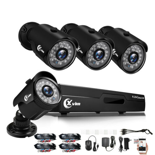 XVIM 5in1 4CH 1080P DVR 1920TVI IR Night Vision Home Security Camera System US