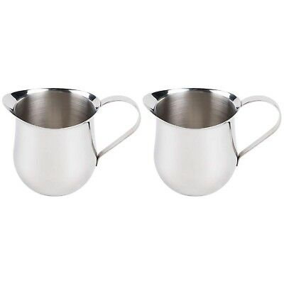 (2 Pack) 3-Ounce Stainless Steel Bell Creamer, 90 ml. Coffee Cream Pitchers