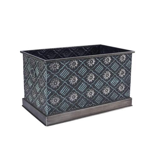 Household Essentials Chelsea Decorative Metal Storage Box, L