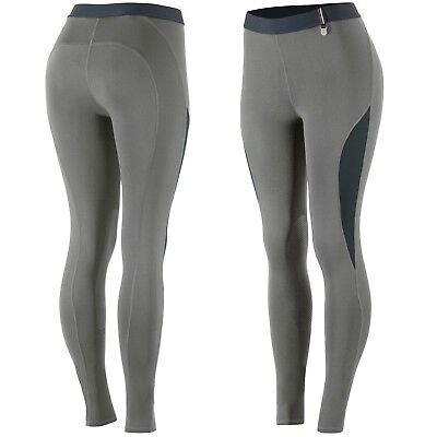 Horze Women's Ladies Steel Gray Silicone Knee Patch English Riding Breeches SALE (Sale Breeches)