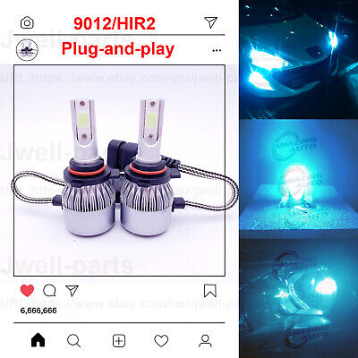 2020 NEW 9012 HIR2 LED Headlights Bulbs Professional Kit 60W 6500LM 8000K