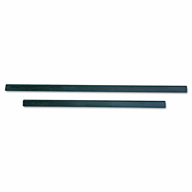 """Unger ErgoTec Replacement Squeegee Blades 12"""" Wide Black Rubber Soft 12/Pack"""