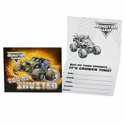Monster Jam Trucks Grave Digger Kids Birthday Party Invitations - Monster Jam Birthday Invitations