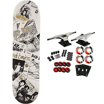 Element Skateboard Complete Bad Brains Flyer 8.25' x 31.93' Raw Trucks