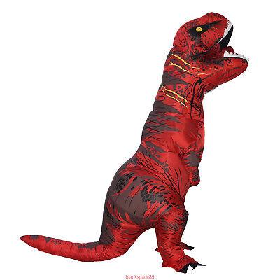 Dinosaur Costume T Rex Fancy Dress Inflatable Kid Adult BlowUp 12color Halloween