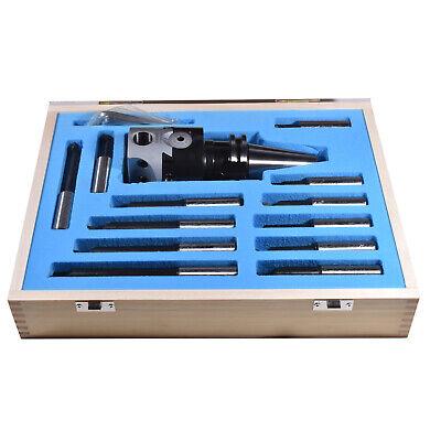 New 58-11 Cat40 3 Boring Head Set And 12pcs Carbide Tips Boring Bar Tools