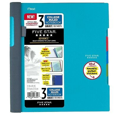 Five Star Advance Spiral Notebook-standard Size 3-subject 150 College-ruled...
