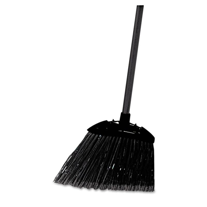 "Rubbermaid Commercial Lobby Pro Broom Poly Bristles 35"" Metal Handle Black"