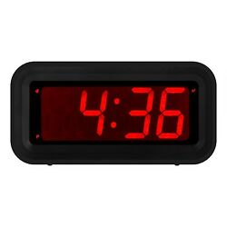 Kwanwa LED Digital Alarm Clock Battery Powered Only Small for Bedrooms/ Wall