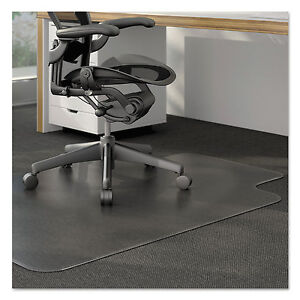 Universal Cleated Chair Mat For Low And Medium Pile Carpet 36 X 48 Clear