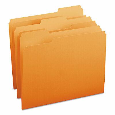 Smead File Folders 13 Cut Top Tab Letter Orange 100box 12543