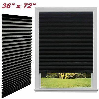 Paper Pleated Shade 36'' x 72'' Window Blind Sun UV Block Blackout Light Control