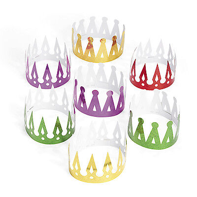 12 Prism Crowns King Queen MARDI GRAS NEW YEARS EVE birthday Party FAVOR - Nye Party Favors