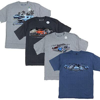 Mens Classic Cars Graphic Short Sleeve Tee, Hot Rod, Camaro, Chevy Truck, -