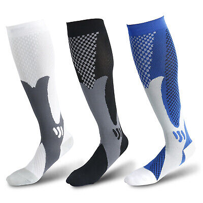 1 Pair Compression Socks Calf Sleeve Leg Support Brace 15-20mmHg For Men Women