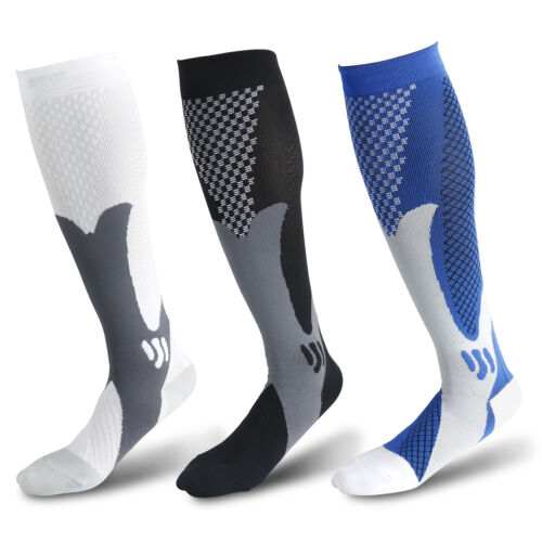 1 Pair Compression Socks Calf Sleeve Leg Support Brace 15-20mmHg For Men Women