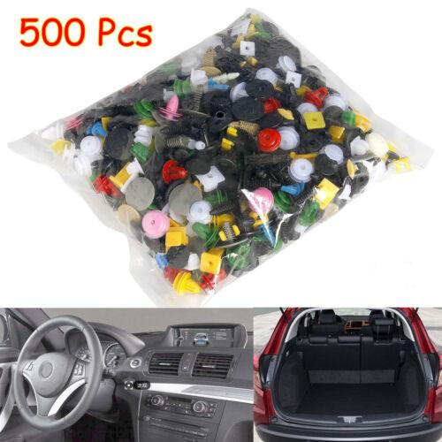 Car Parts - 500PCS Car Door Panel Trim Fenders Bumper Rivet Retainer Push Pin Clips Mixed