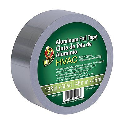 Hvac Ul 723 Metal Repair Aluminum Foil Tape 1.88-inch By 50 Yards Silver