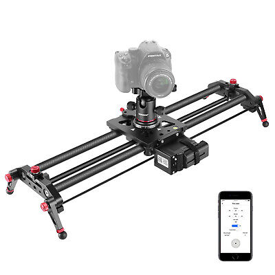 Neewer Motorized Camera Slider 31.5-inch Carbon Fiber Track Dolly Rail