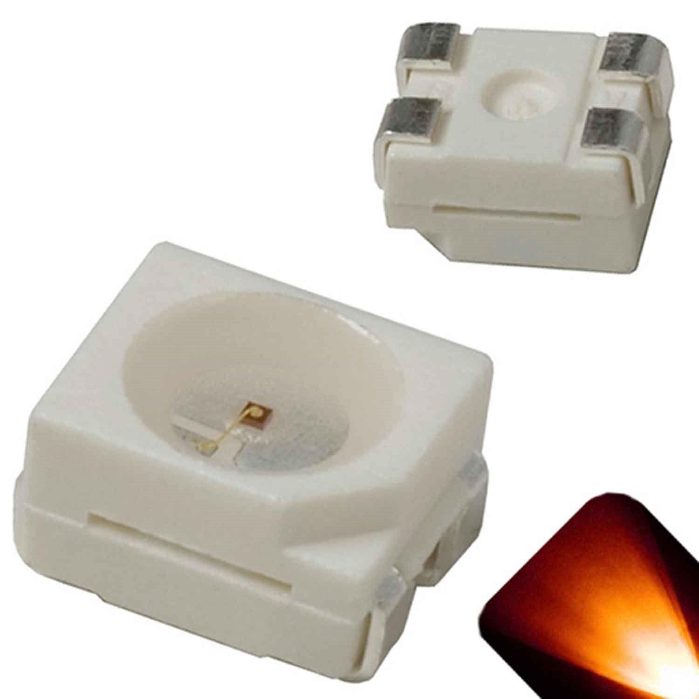 100 x Flat Piranha Orange Amber LED Light Super Bright LEDs Ultra 3mm 5mm Tail R