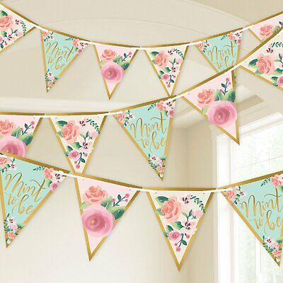 MINT TO BE PENNANT Wall Banner Room Decoration Party Decor Bridal Shower Wedding - Mint Room Decor