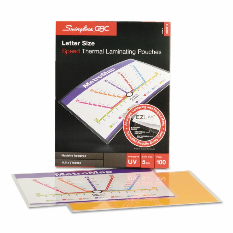Swingline GBC EZUse Thermal Laminating Pouches 5 mil 11 1/2 x 9 100/Box 3200716