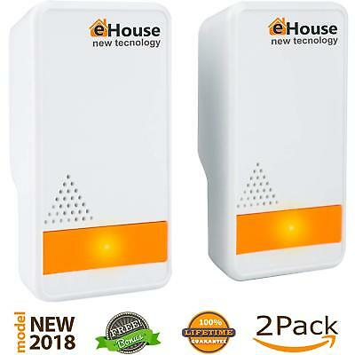 Ultrasonic Pest Repeller - (2 Pack) Electronic Plug in Best Repellent - Pest