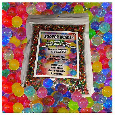 Water Beads 8 oz (20,000 beads) Sooper Beads for Orbeez Spa Refill Sensory Toy