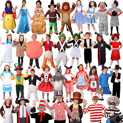 GIRLS BOYS WORLD BOOK DAY WEEK CHARACTER COSTUME FANCY DRESS CHOOSE FROM LOT - Boy Book Character Costumes