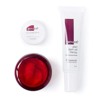 CHAMONIX GENUCEL SET FOR BAGS AND PUFFINESS w IMMEDIATE EFFECTS AND NECK CREAM