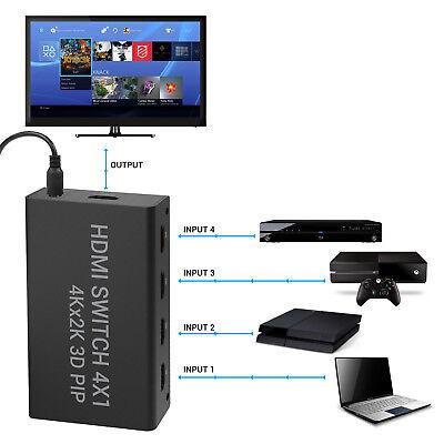 4 Port Wireless HDMI Switch Hub Port Splitter 4x1 Highspeed HDMI-Umschalter US Hdmi 4 Port