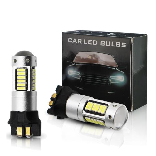 2 Stk PW24W 10W SMD SAMSUNG LED Standlicht Bremslicht Rücklicht Lampe Birne Gelb