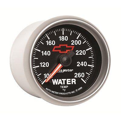 (Auto Meter 3655-00406 GM Bowtie Electric Water Temperature Gauge 100-260 °F)