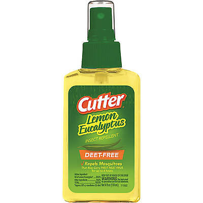 Cutter Lemon Eucalyptus Insect & Mosquito Repellent 4oz, DEET-FREE Family (Cutter Insect Repellant)