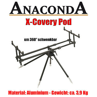 Anaconda X-Covery Pod - XCovery - 4 Bein Rod Pod f. bis zu 3 Ruten stabil robust
