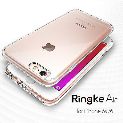 Ringke Air Slim Soft Clear View Dust Cap Cover for Apple iPhone 6 6s plus Case