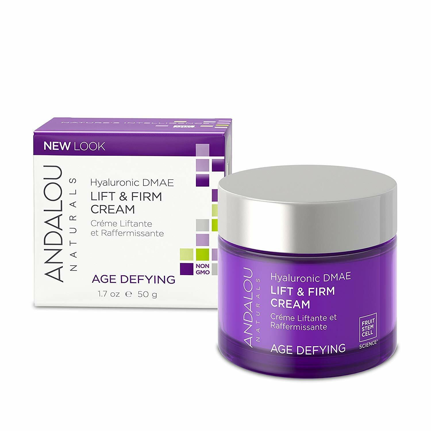 Andalou Naturals Hyaluronic DMAE Lift and Firm Cream, 1.7 Ou