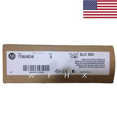 New Factory Sealed Allen Bradley 1746-nio4i A Slc 500 Analog Output Module Usa